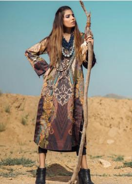 Al Karam Printed Cotton Satin Unstitched 2 Piece Suit AK19N FW-D13-19-2 - Luxury Collection