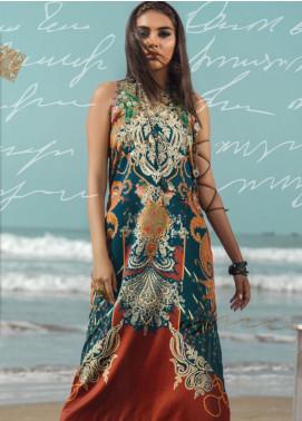Al Karam Printed Cotton Satin Unstitched 2 Piece Suit AK19N FW-D15-19-2 - Luxury Collection