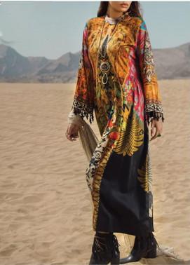 Al Karam Printed Cotton Satin Unstitched 2 Piece Suit AK19N FW-D2-19-2 - Luxury Collection