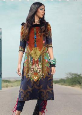 Al Karam Embroidered Cotton Satin Unstitched 2 Piece Suit AK19N FW-D3-19-2 - Luxury Collection