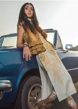 Al Karam Embroidered Cotton Satin Unstitched 2 Piece Suit AK19N FW-D4-19-2 - Luxury Collection