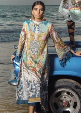 Al Karam Printed Cotton Satin Unstitched 2 Piece Suit AK19N FW-D5-19-2 - Luxury Collection