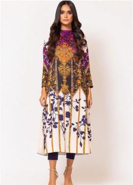 Al Karam Printed Cotton Satin Unstitched Kurties AK19N FW-D7A-19-2 - Luxury Collection