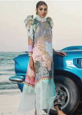 Al Karam Embroidered Cotton Satin Unstitched 2 Piece Suit AK19N FW-D9-19-2 - Luxury Collection