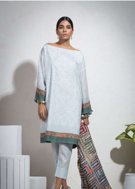 Al Karam Printed Lawn Unstitched 3 Piece Suit AK19L SS-01.1-19 Grey - Spring / Summer Collection