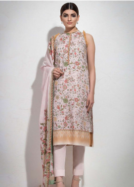 Al Karam Printed Lawn Unstitched 3 Piece Suit AK19L SS-32.1-19 Pink - Spring / Summer Collection