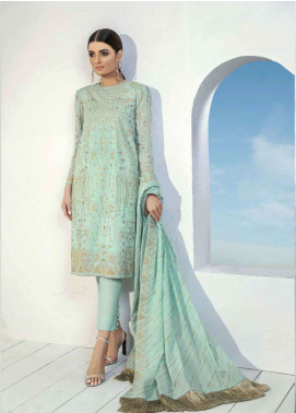Al Karam Printed Lawn Unstitched 3 Piece Suit AK19L SS-25-19 Green - Spring / Summer Collection