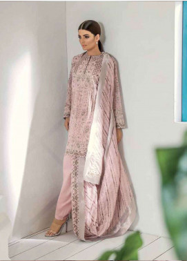 Al Karam Printed Lawn Unstitched 3 Piece Suit AK19L SS-25-19 Pink - Spring / Summer Collection