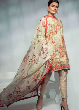 Al Karam Printed Lawn Unstitched 3 Piece Suit AK19L SS-49-19 Multi - Spring / Summer Collection