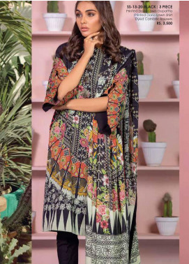 Al Karam Printed Lawn Unstitched 3 Piece Suit AK20SSL SS-13-20-BLACK - Spring / Summer Collection