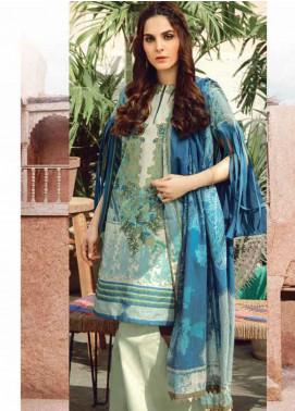 Al Karam Printed Lawn Unstitched 3 Piece Suit AK20SSL SS-16-20-BLUE - Spring / Summer Collection