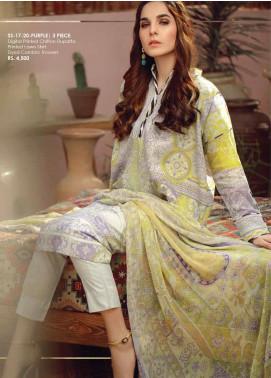 Al Karam Printed Lawn Unstitched 3 Piece Suit AK20SSL SS-17-20-PURPLE - Spring / Summer Collection