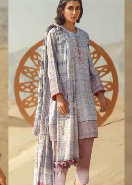 Al Karam Printed Lawn Unstitched 3 Piece Suit AK20SSL SS-17.1-20-PURPLE - Spring / Summer Collection