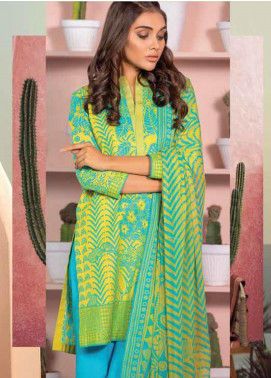 Al Karam Printed Lawn Unstitched 3 Piece Suit AK20SSL SS-18-20-YELLOW - Spring / Summer Collection