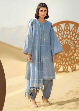 Al Karam Printed Lawn Unstitched 3 Piece Suit AK20SSL SS-20.1-20-BLUE - Spring / Summer Collection