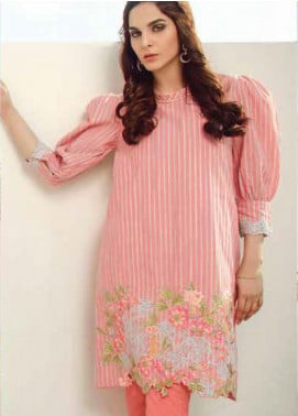 Al Karam Embroidered Yarn Unstitched 2 Piece Suit AK20SSL SS-22-20-PEACH - Spring / Summer Collection