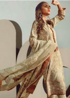 Al Karam Printed Lawn Unstitched 3 Piece Suit AK20SSL SS-3.1-20-BEIGE - Spring / Summer Collection