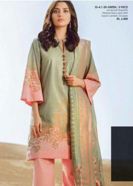 Al Karam Printed Lawn Unstitched 3 Piece Suit AK20SSL SS-4.1-20-GREEN - Spring / Summer Collection