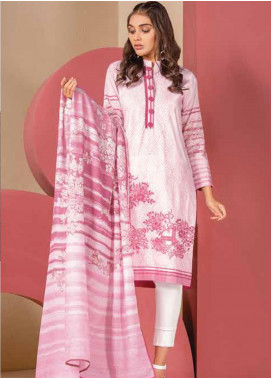 Al Karam Embroidered Lawn Unstitched 3 Piece Suit AK20SSL SS-8.1-20-PINK - Spring / Summer Collection