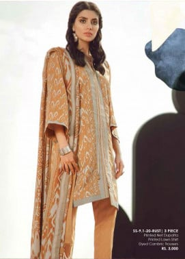 Al Karam Printed Lawn Unstitched 3 Piece Suit AK20SSL SS-9.1-20-RUST - Spring / Summer Collection