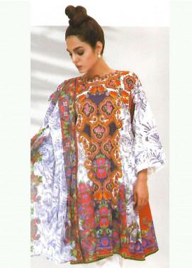 Al Karam Printed Lawn Unstitched 3 Piece Suit AK18-L2 E12 BLUE - Spring Summer Collection