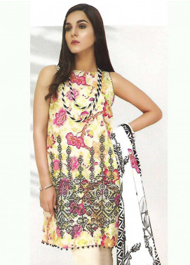 Al Karam Embroidered Lawn Unstitched 3 Piece Suit AK18-L2 F21 BLACK - Spring Summer Collection
