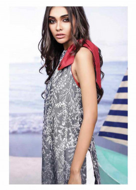 Al Karam Embroidered Denim Unstitched Kurties AK19-L2 22 BLUE - Spring / Summer Collection
