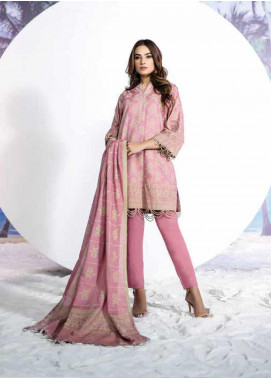 Al Karam Embroidered Lawn Unstitched 2 Piece Suit AK19-L2 9.1 PINK - Spring / Summer Collection