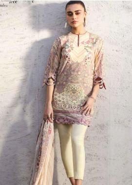 Al Karam Printed Lawn Unstitched 3 Piece Suit AK20SSL-2 SS-11 LILAC - Spring / Summer Collection
