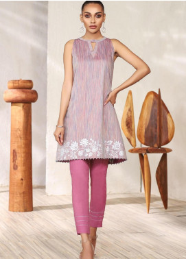 Al Karam Printed Yarn Unstitched Kurties AK20SSL-2 SS-17-1-20-Pink - Spring / Summer Collection