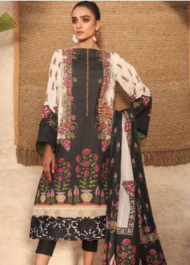 Al Karam Embroidered Lawn Unstitched 3 Piece Suit AK20SSL-2 SS-19 BLACK - Spring / Summer Collection