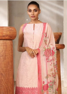 Al Karam Embroidered Lawn Unstitched 3 Piece Suit AK20SSL-2 SS-7-1-20-Pink - Spring / Summer Collection