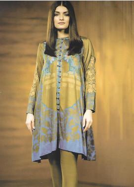 Al Karam Embroidered Khaddar Unstitched 2 Piece Suit AK19W FW-40-19 Green - Winter Collection