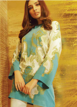 Al Karam Printed Viscose Unstitched 2 Piece Suit AK19W FW-39-19 Blue - Winter Collection