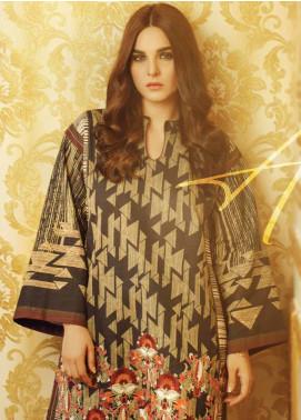 Al Karam Embroidered Khaddar Unstitched 2 Piece Suit AK19W FW-40.1-19 Black - Winter Collection