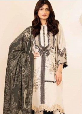 Al Karam Embroidered Viscose Unstitched 3 Piece Suit AK20W FW-03-20 CREAM - Winter Collection