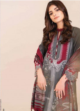 Al Karam Embroidered Viscose Unstitched 3 Piece Suit AK20W FW-03-20 GREY - Winter Collection