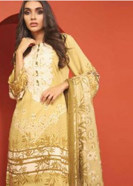 Al Karam Embroidered Viscose Unstitched 3 Piece Suit AK20W FW-09-01-20 BEIGE - Winter Collection