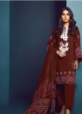 Al Karam Embroidered Viscose Unstitched 3 Piece Suit AK20W FW-09-20 MAROON - Winter Collection