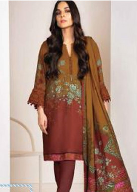 Al Karam Embroidered Viscose Unstitched 3 Piece Suit AK20W FW-12-20 MAROON - Winter Collection