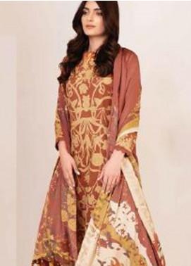 Al Karam Printed Cotton Unstitched 3 Piece Suit AK20W FW-22-20 RUST - Winter Collection