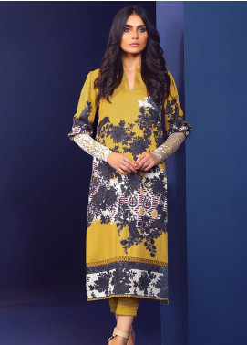 Al Karam Embroidered Viscose Unstitched 2 Piece Suit AK20W FW-30-20 MUSTARD - Winter Collection