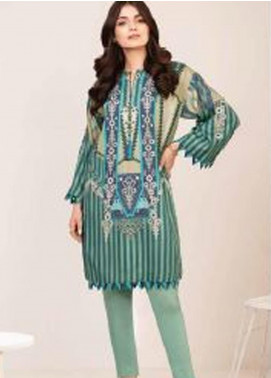 Al Karam Printed Viscose Unstitched 2 Piece Suit AK20W FW-31-20 GREEN - Winter Collection