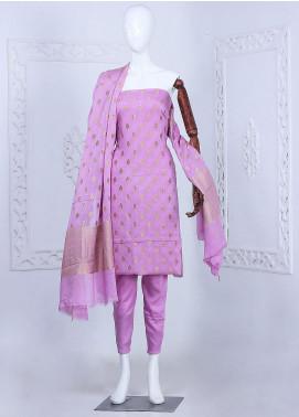 Al Rahim Banarsi Embroidered Chiffon Unstitched 3 Piece Suit ARB20CB Crepe Banarsi Chiffon Purple 0329B - Formal Collection