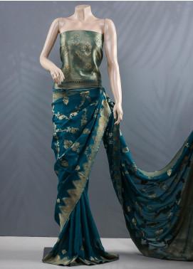 Al Rahim Banarsi Embroidered Chiffon Unstitched Saree ARB20MC RC1317 - Wedding Collection