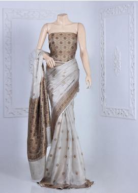 Al Rahim Banarsi Embroidered Missouri Unstitched Saree ARB20S Missouri Tissue - Festive Collection