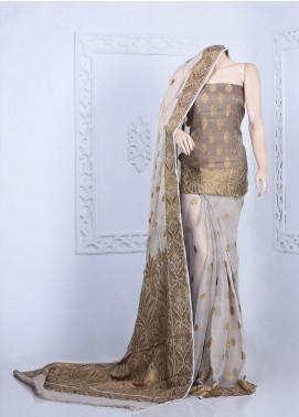 Al Rahim Banarsi Embroidered Missouri Unstitched Saree ARB20S Mughal Style - Festive Collection