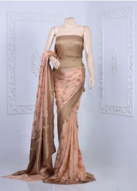 Al Rahim Banarsi Embroidered Chiffon Unstitched Saree ARB20S Zari and Resham - Festive Collection