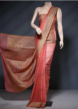 Al Rahim Banarsi Embroidered Chiffon Unstitched Saree ARB20S Silk Chiffon Zari  - Festive Collection