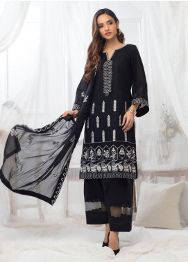 Al Zohaib Embroidered Lawn Unstitched 3 Piece Suit AZ20BW 02 - Black & White Collection